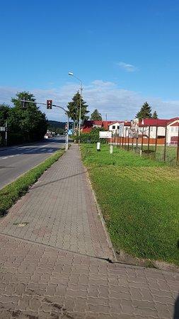 Wiselka, بولندا: Main Street lovely Gorgeous village