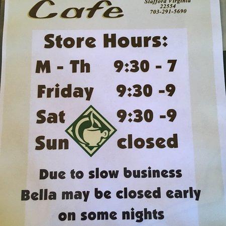 Stafford, VA: Bella Cafe