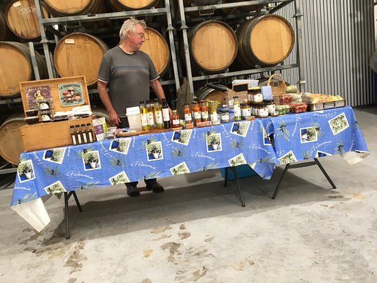 Kingscote, Australia: Stall inside the barrel room
