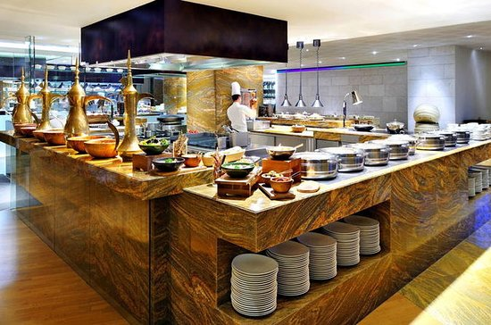Buffet de jantar no JW Marriott...