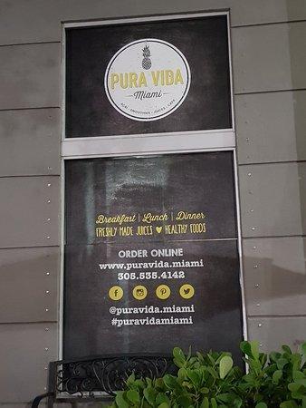 Pura Vida Cafe Miami Menu