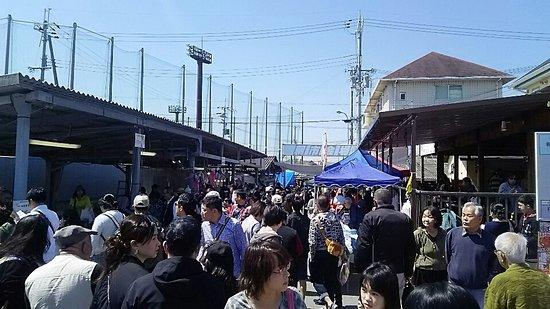 Tajiri-cho, Japan: 朝市会場の様子
