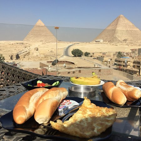 'Only the view and location near pyramids