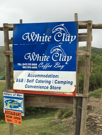 Coffee Bay, South Africa: Entrance sign