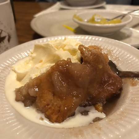 Newton Falls, OH : Deserts are fantastic.  This is half an apple dumpling.