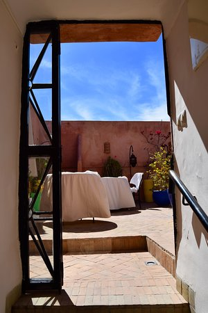 Riad Al Badia: Entrance to the roof
