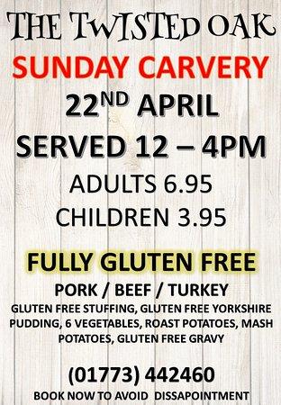 Tibshelf, UK: gluten free carvery