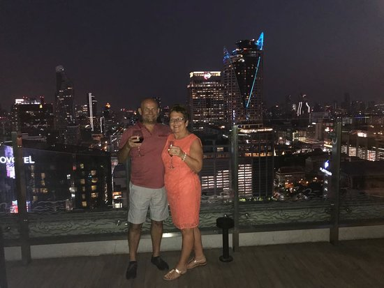 Amari Watergate Bangkok: Super view from the terrace of the Executive Lounge