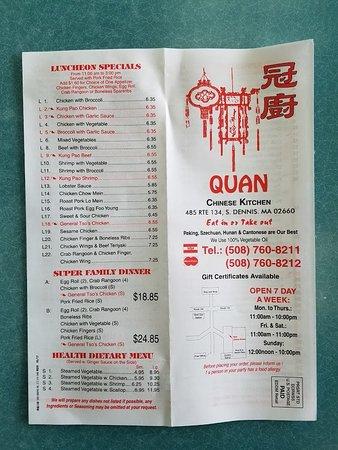 quan chinese kitchen menu 4 - Quans Kitchen Menu