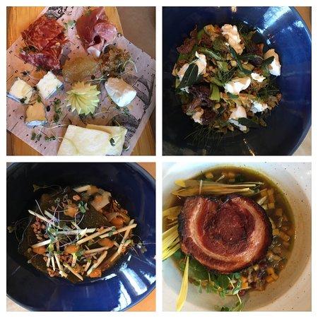Bin 707 Foodbar: Charcuterie, Crispy Broccoli, Short Rib, Porchetta