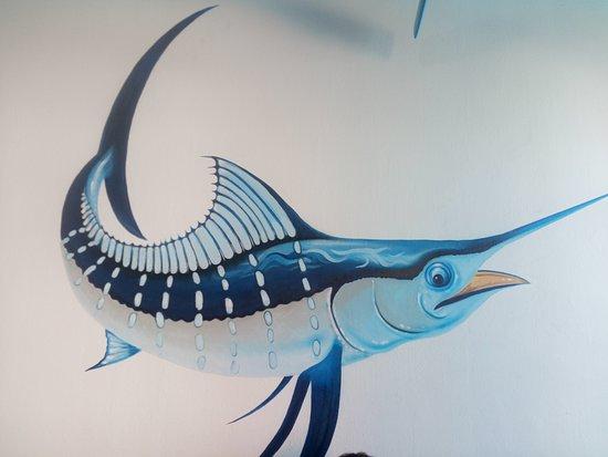 Ristopescheria Itticomania: dipinto murale