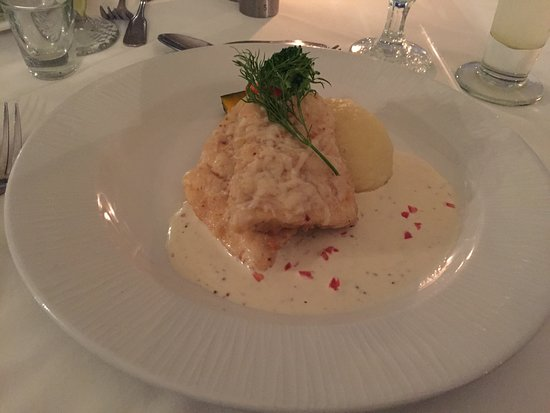 Champers Restaurant: Parmesan Crusted Barracuda