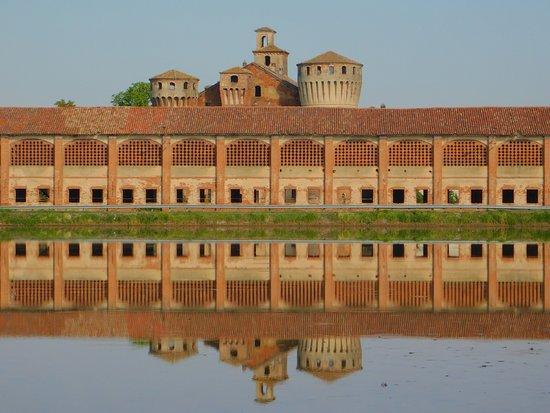 Valeggio, Ιταλία: Riflesso speculare nelle risaie