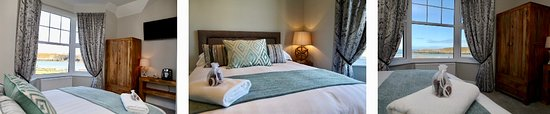 Cemaes Bay, UK: Treddolphin Guest House Room1 - En suite Shower - King size bed - Sea View