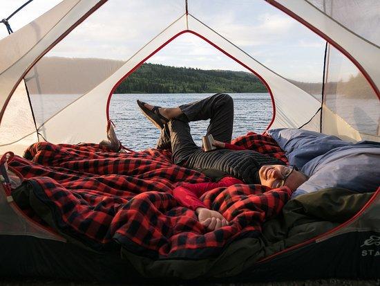 Alberta, Canada: Relaxing in Castle Provincial Park.