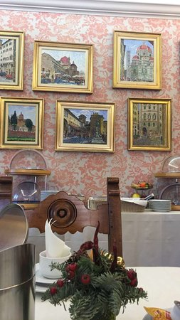 Hotel Hermitage: Common area where breakfast is served.