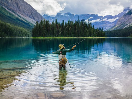 Fishing in the Canadian Rockies.