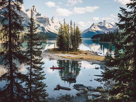 Canadian Rockies, Canada: Spirit Island in Jasper National Park.