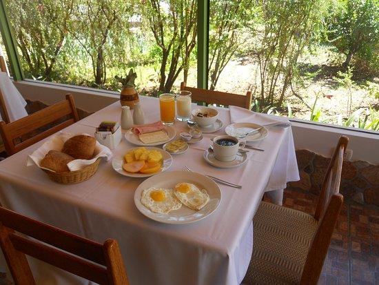 Carhuaz, Perú: Desayuno en el Hotel El Abuelo