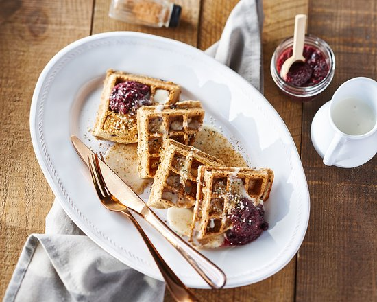 Copper Branch: Chocolate Blueberry Waffles