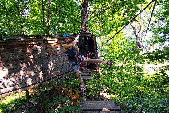 Kressbronn, Tyskland: Die Liane nach dem Geistertunnel macht einfach Spaß