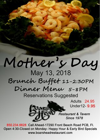 Mother's Day Buffet PCB-Boar's Head Restaurant - View All