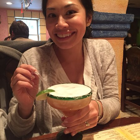 Palisades, NY: Enjoying one of the many margarita's