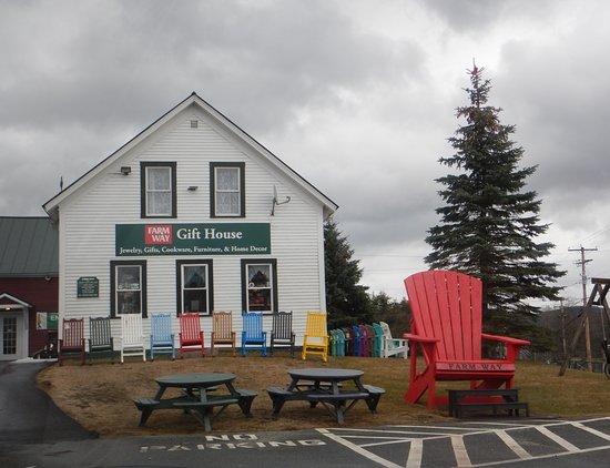 Bradford, VT: Farm Way's oversize adirondak chair.