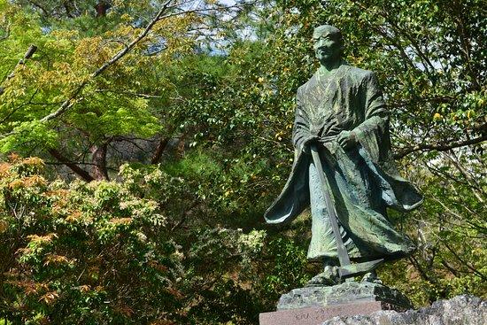 Suminokura Ryoi's Bronze Statue