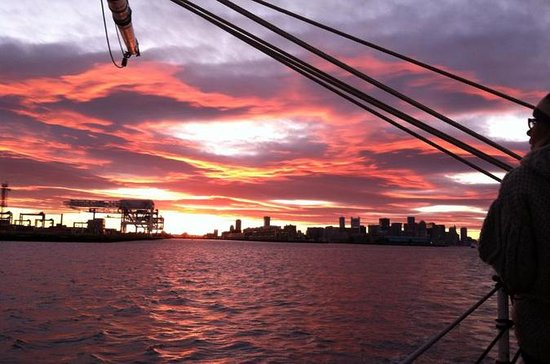 Sunset Sail on a Tall Ship in Boston Harbor