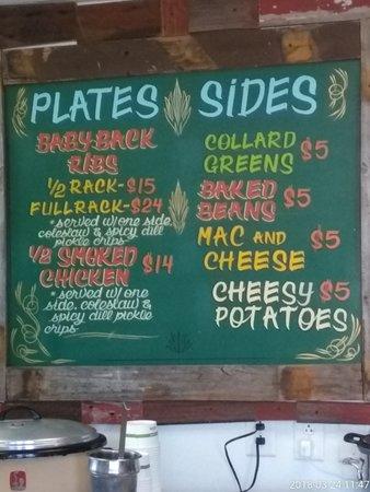 Westside Barbecue: Daily Menu