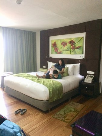The Cocoon Boutique Hotel: my wife and kids