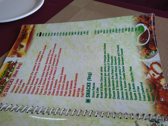 Airport Restaurant: MENU IN DETAIL