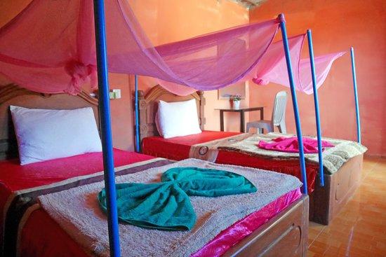 Krong Ban Lung, Cambogia: Triple room and facility