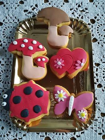 Piteglio, Italie : Biscotti decorati a mano, arte gustosa!