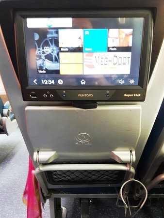 Aircraft Type LCD Touch Screen & Folding Tray behind each seat