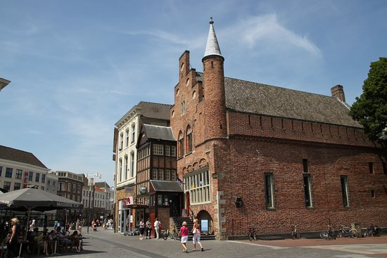 Den Bosch, The Netherlands: The Moriaan, The oldest brickstone building of the netherlands