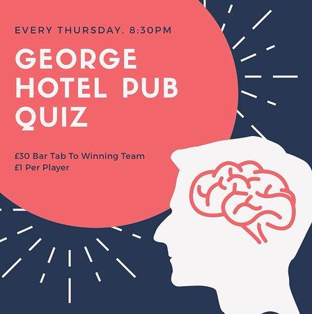 Newent, UK: George Hotel Weekly Pub Quiz