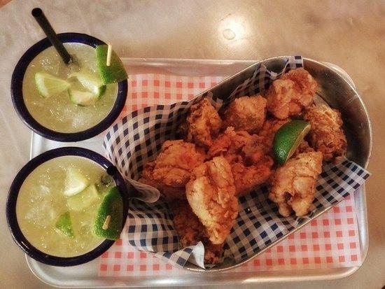 Rigodón: Fabulous Fried Chicken served with Caipirinha Cocktails