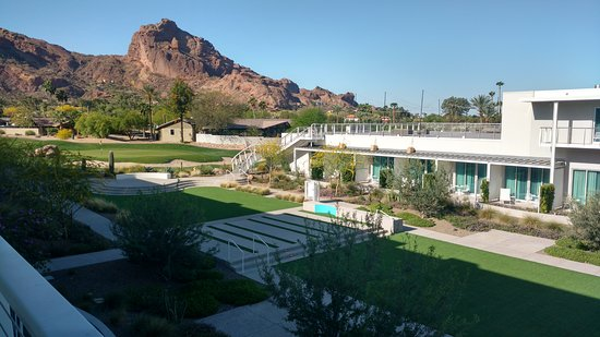 Paradise Valley, AZ: view from my room patio to the grounds below