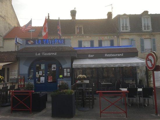 Lion-sur-mer, Fransa: devanture, restaurant, extérieur, 2018, taverne, restaurant