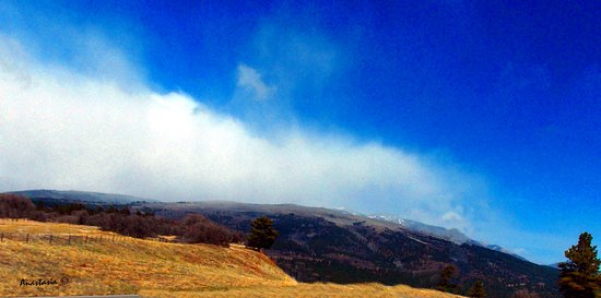 East of Mancos Colorado With La Plata Peaks in Clouds