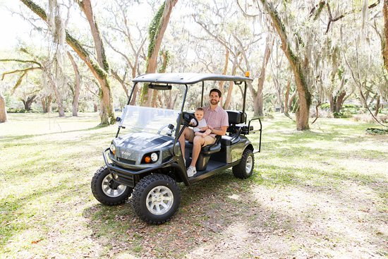 Golden Coast Golf Carts: Having fun on the golf cart!