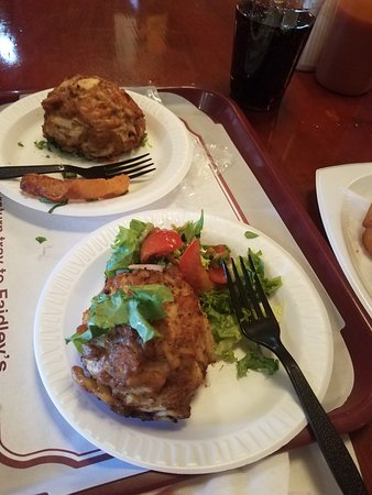 Crab cakes picture of faidley seafood baltimore for Denville fish market