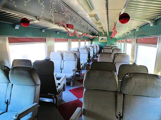 New Haven, KY: inside excursion train