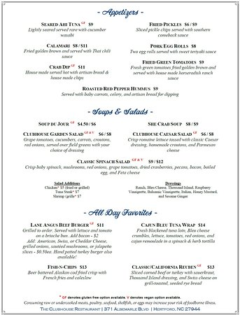 Hertford, NC: Lunch & Dinner Menu - available 11am-8PM