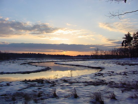 Rachel Carson National Wildlife Refuge: A beautiful sunrise