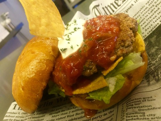Grafton, WV: South of the Border on burger. Goes great on our Black bean burger too!