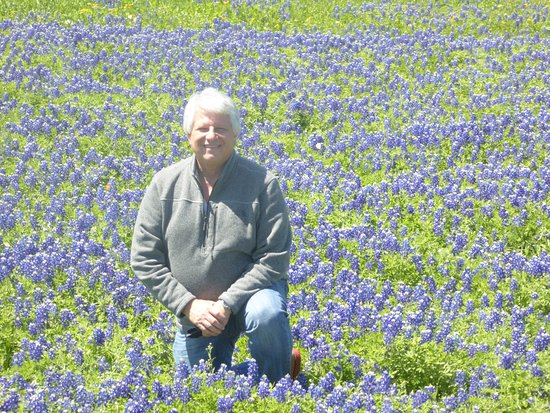 Ennis, TX: Beautiful bluebonnets - not so sure about the old guy!
