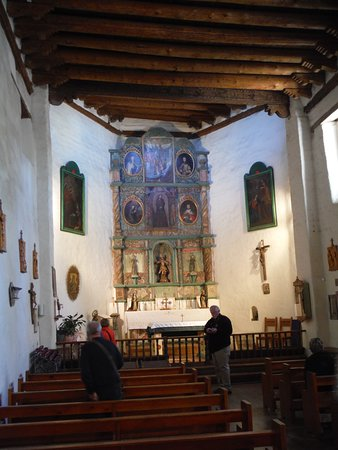 San Miguel Chapel : Look at ceiling - totally flat with beams